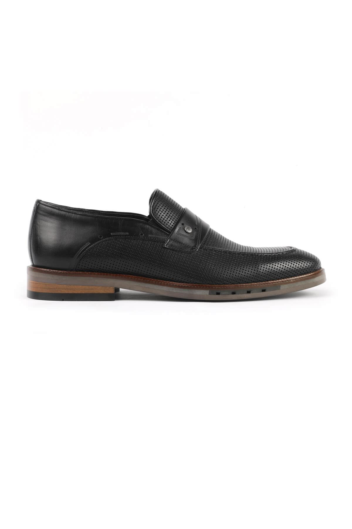 Libero 2943 Black Loafer Shoes