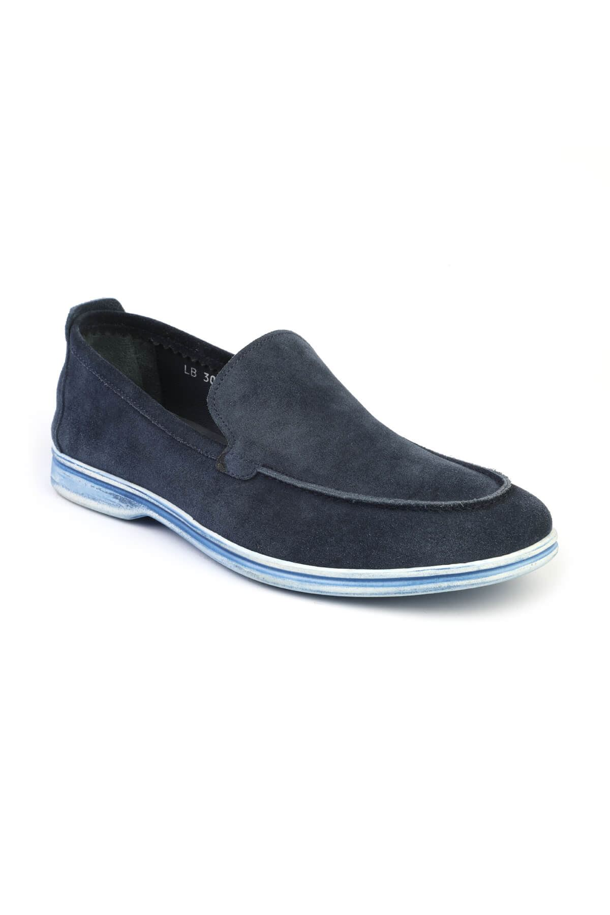 Libero 3004 Navy Blue Loafer Shoes