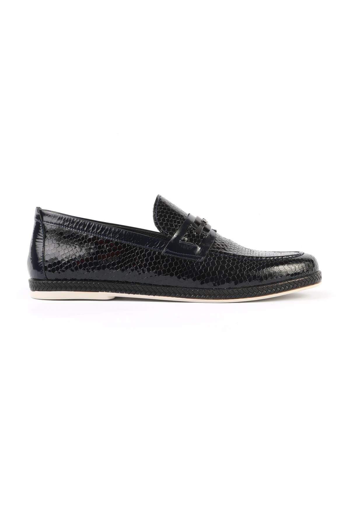 Libero C822 Navy Blue Loafer Shoes