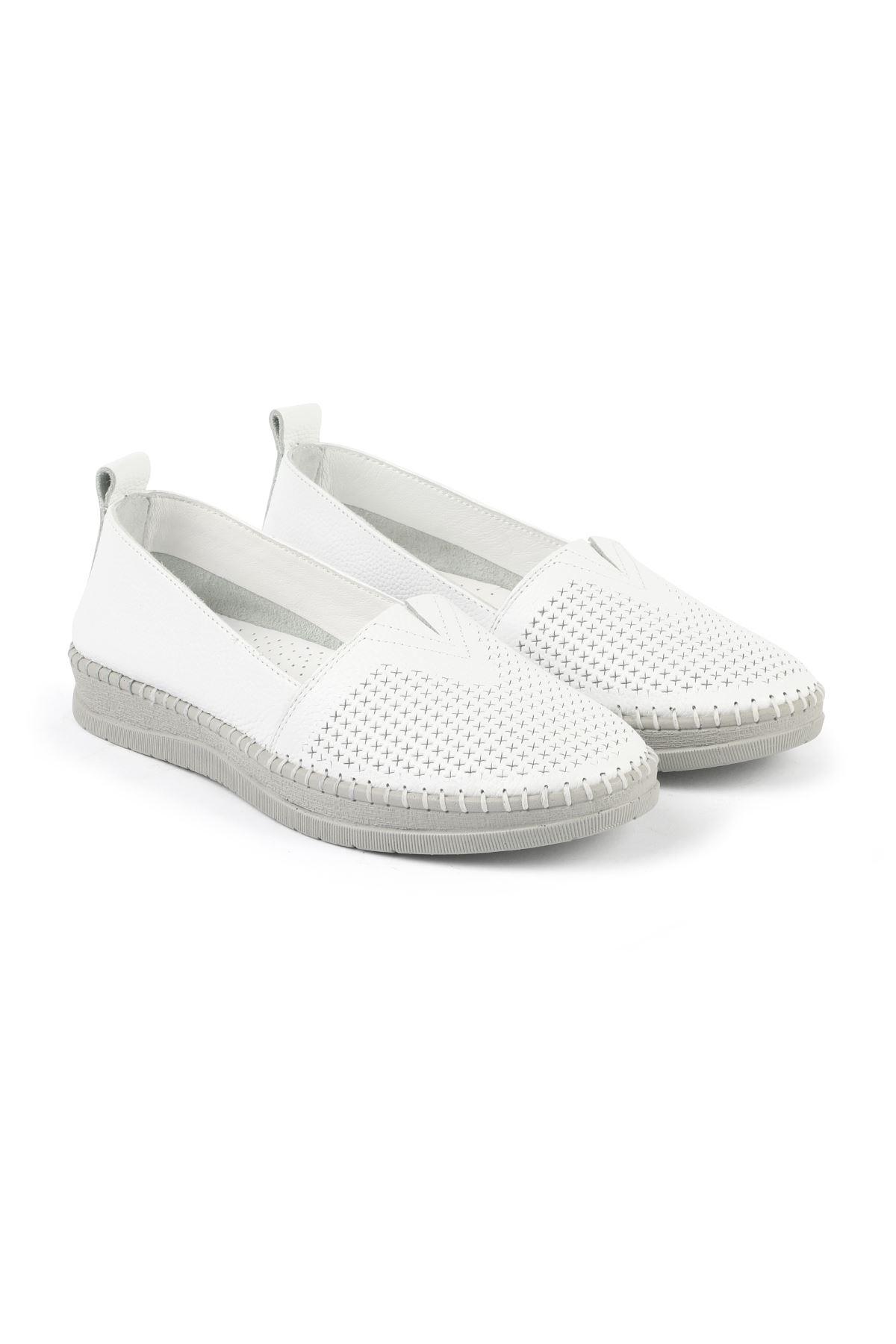 Libero FMS240 Beyaz Espadril Ayakkabı