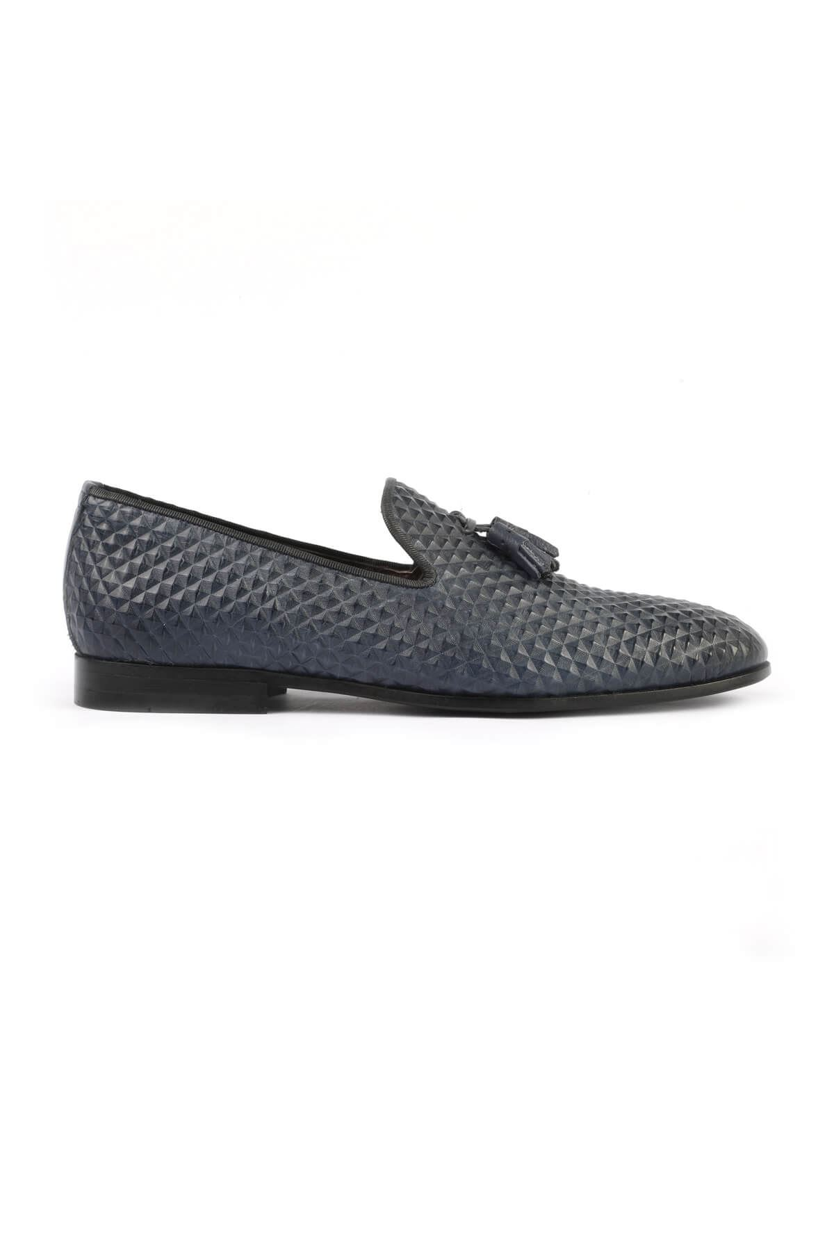 Libero 2830 Navy Blue Loafer Shoes