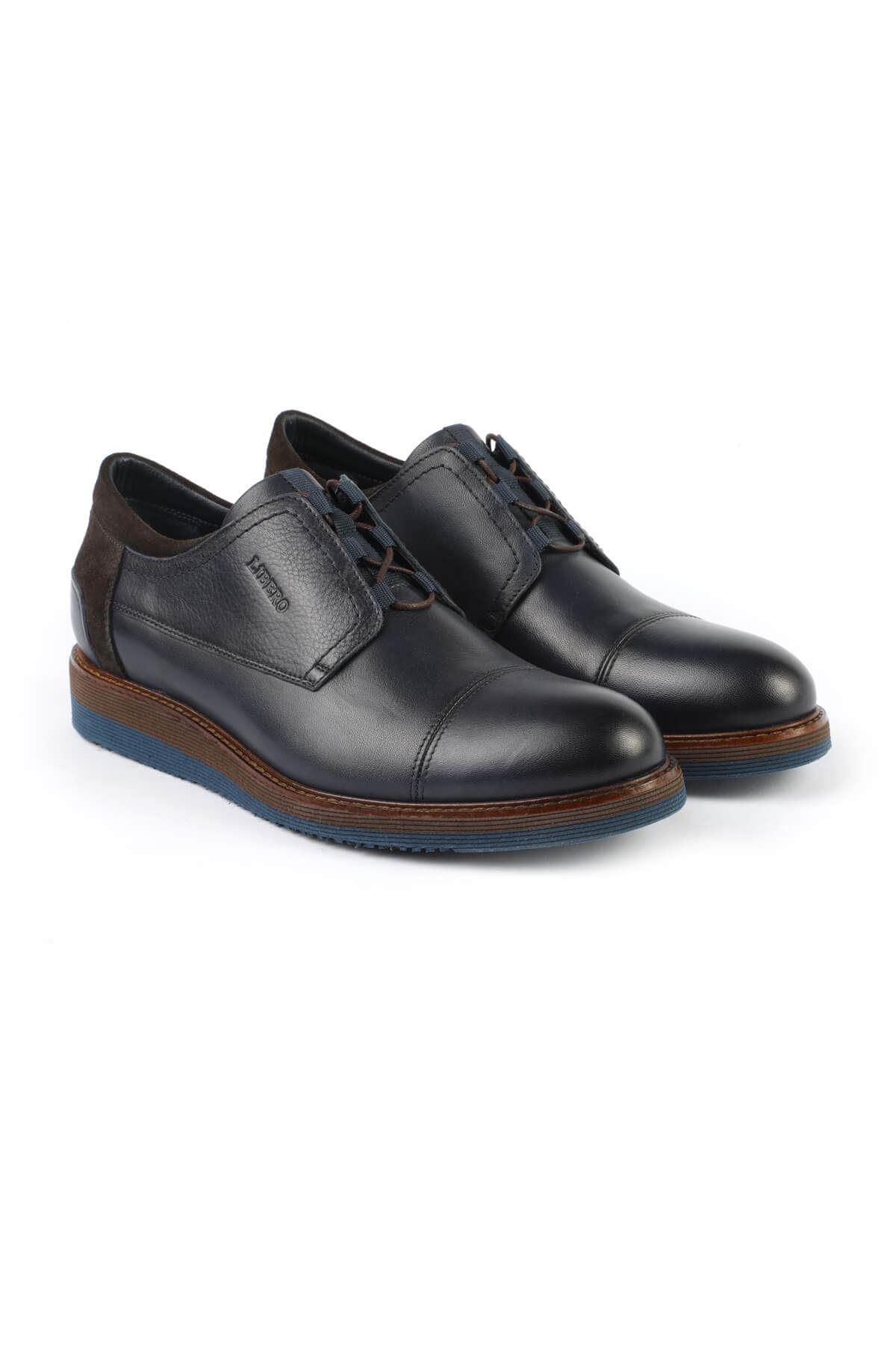 Libero 2646 Navy Blue Oxford Shoes