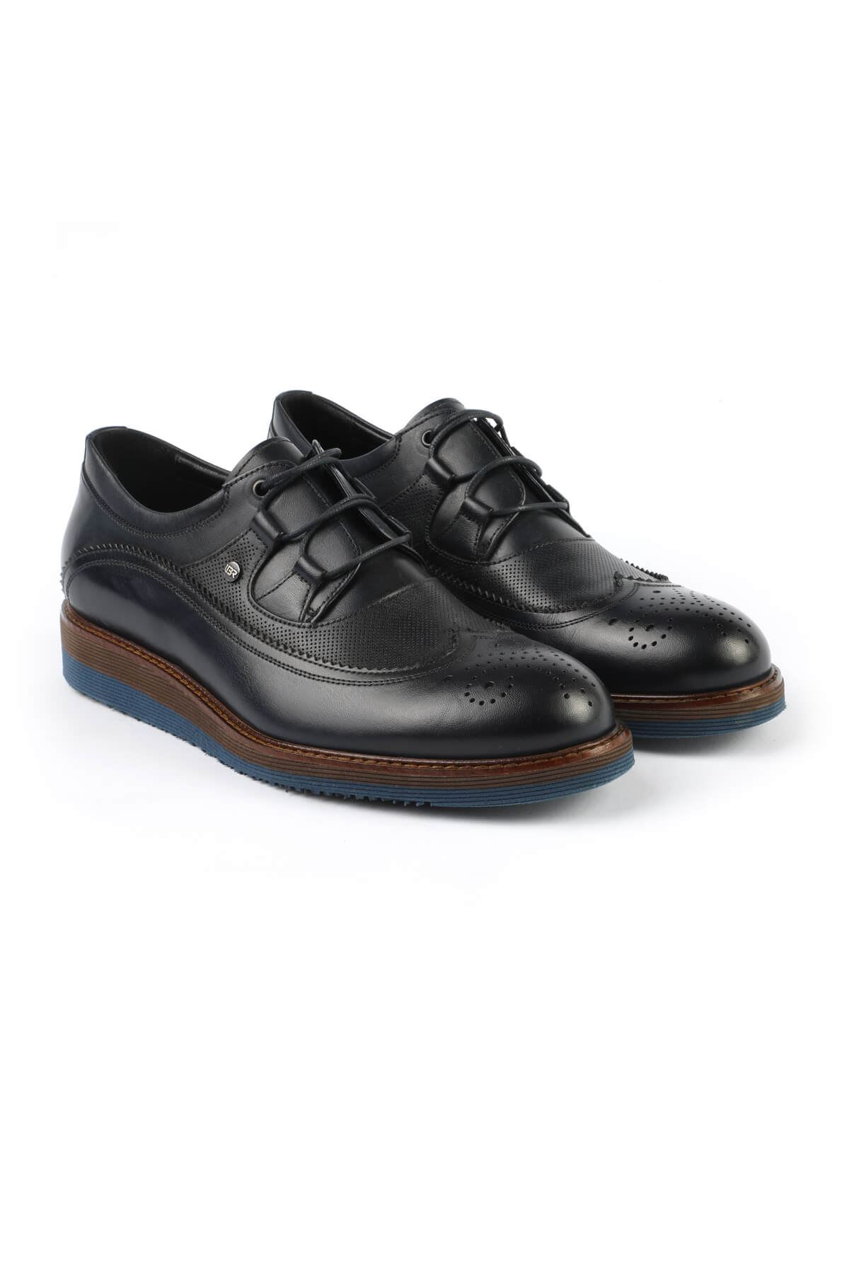 Libero 2902 Navy Blue Oxford Shoes