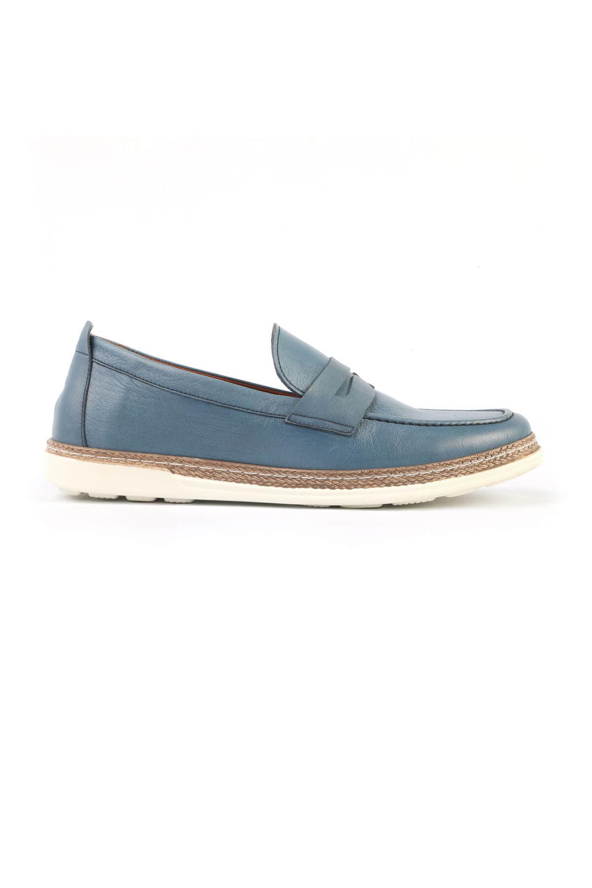 Libero C825 Blue Loafer Shoes