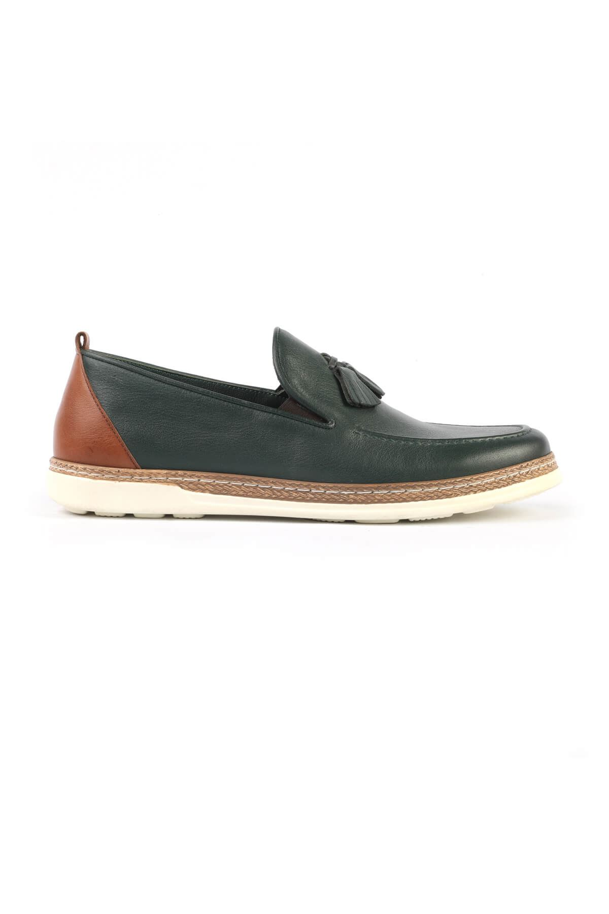 Libero C625 Green Loafer Shoes
