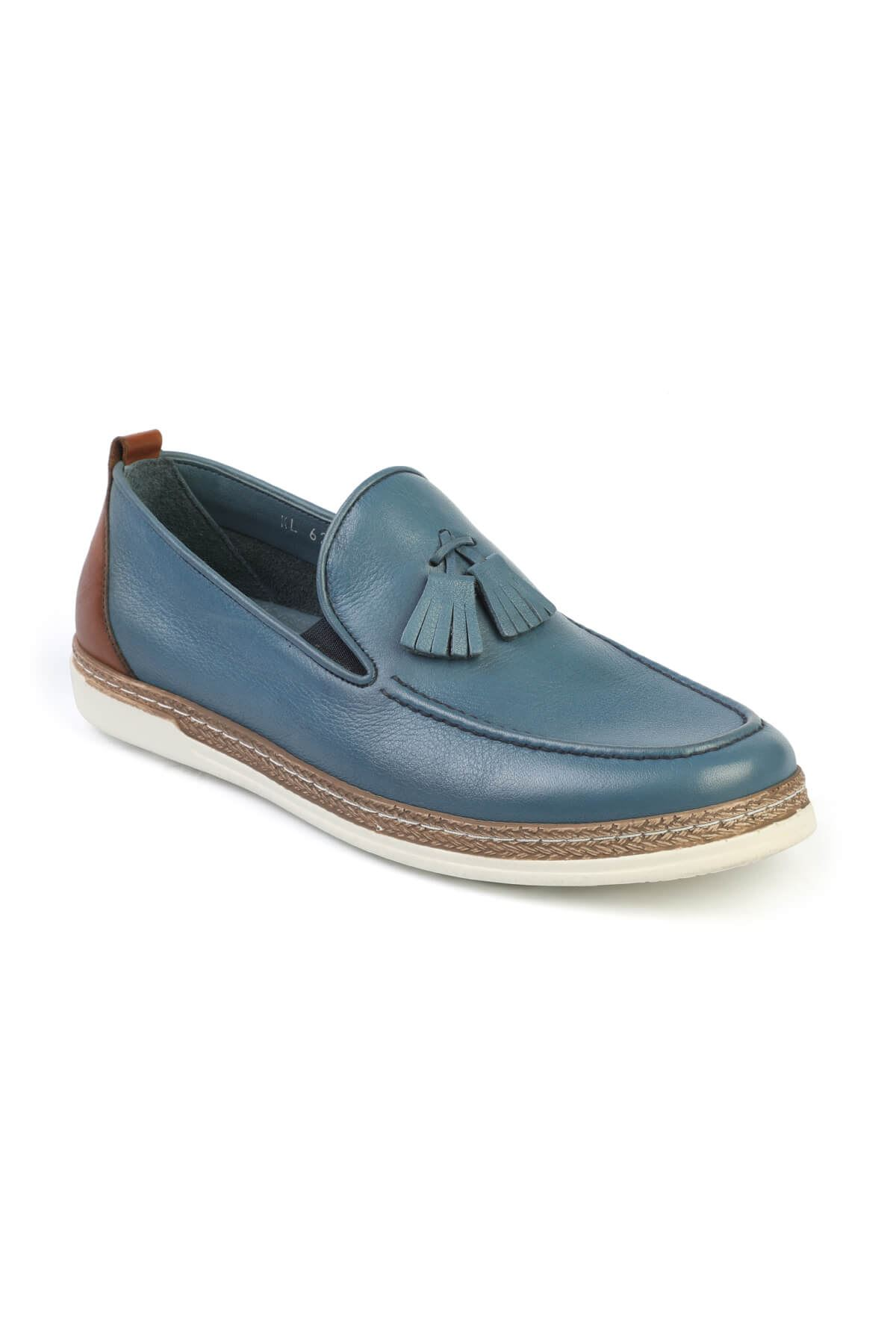 Libero C625 Blue Loafer Shoes
