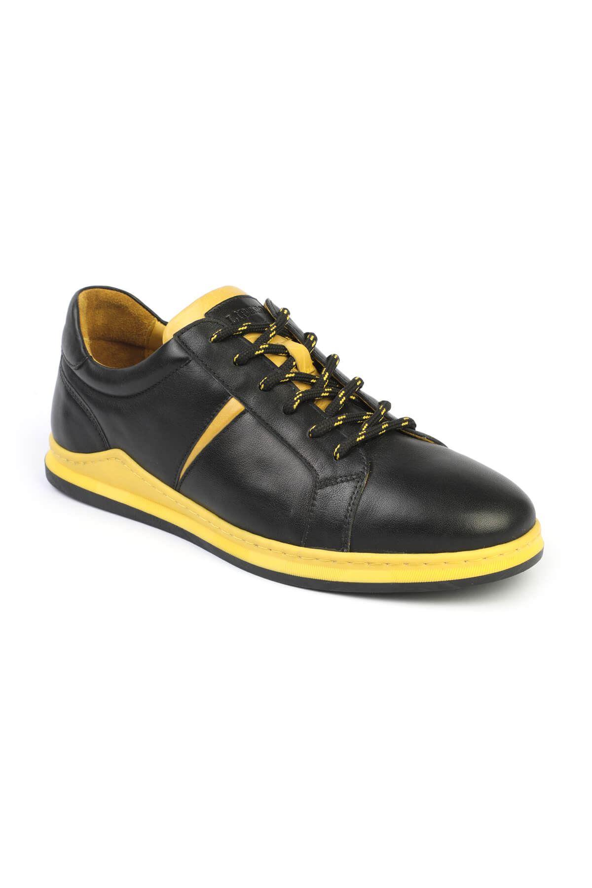 Libero 3196 Siyah Sarı Sneaker Ayakkabı