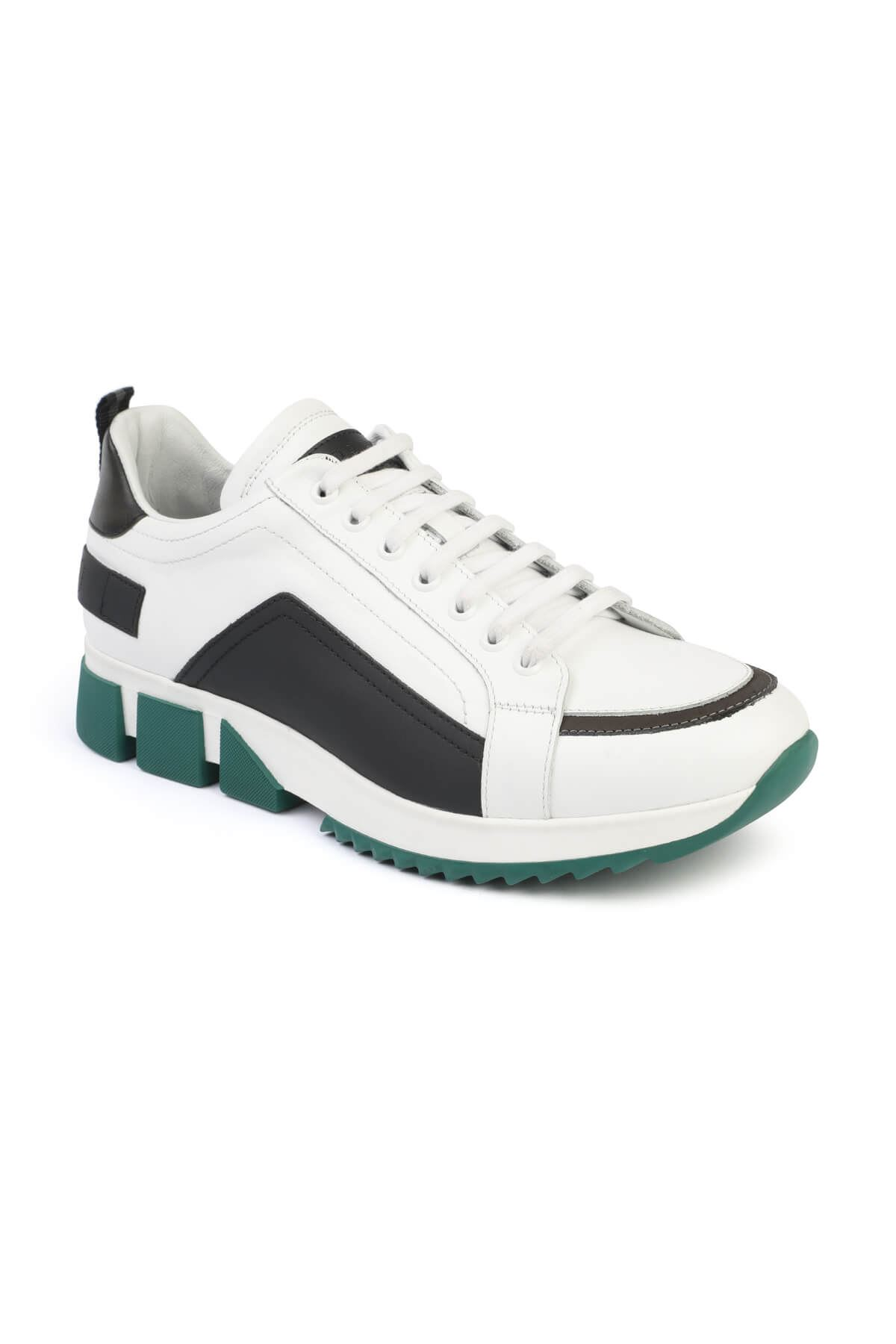 Libero 3133 White Green Sport Shoes