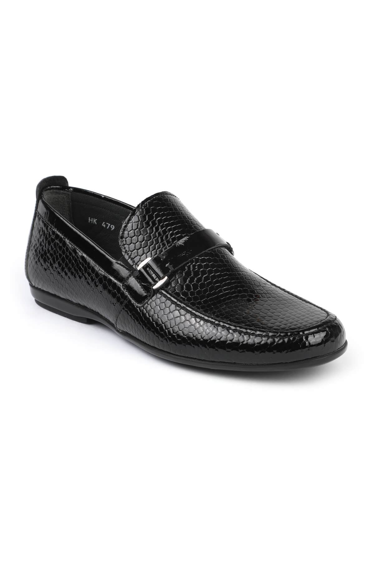 Libero C479 Black Loafer Shoes