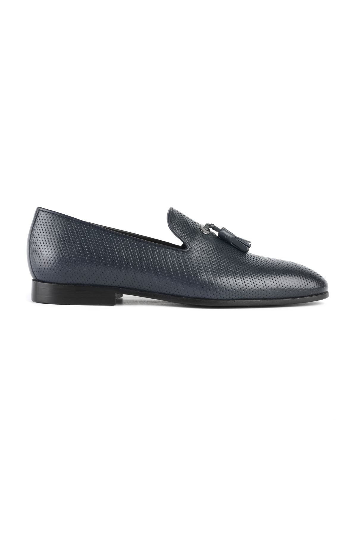 Libero 3324 Navy Blue Loafer Shoes