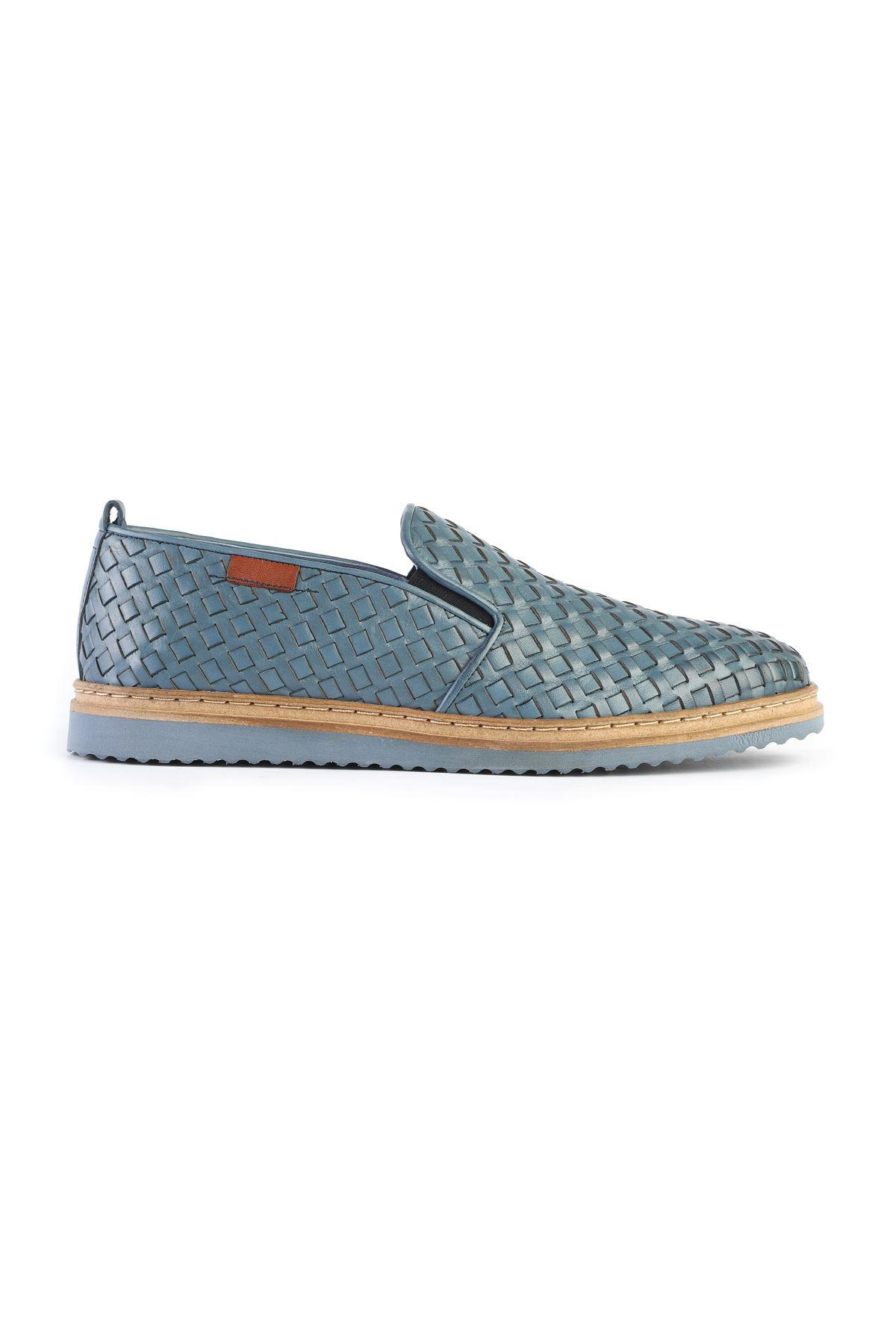 Libero 3295 Blue Loafer Shoes