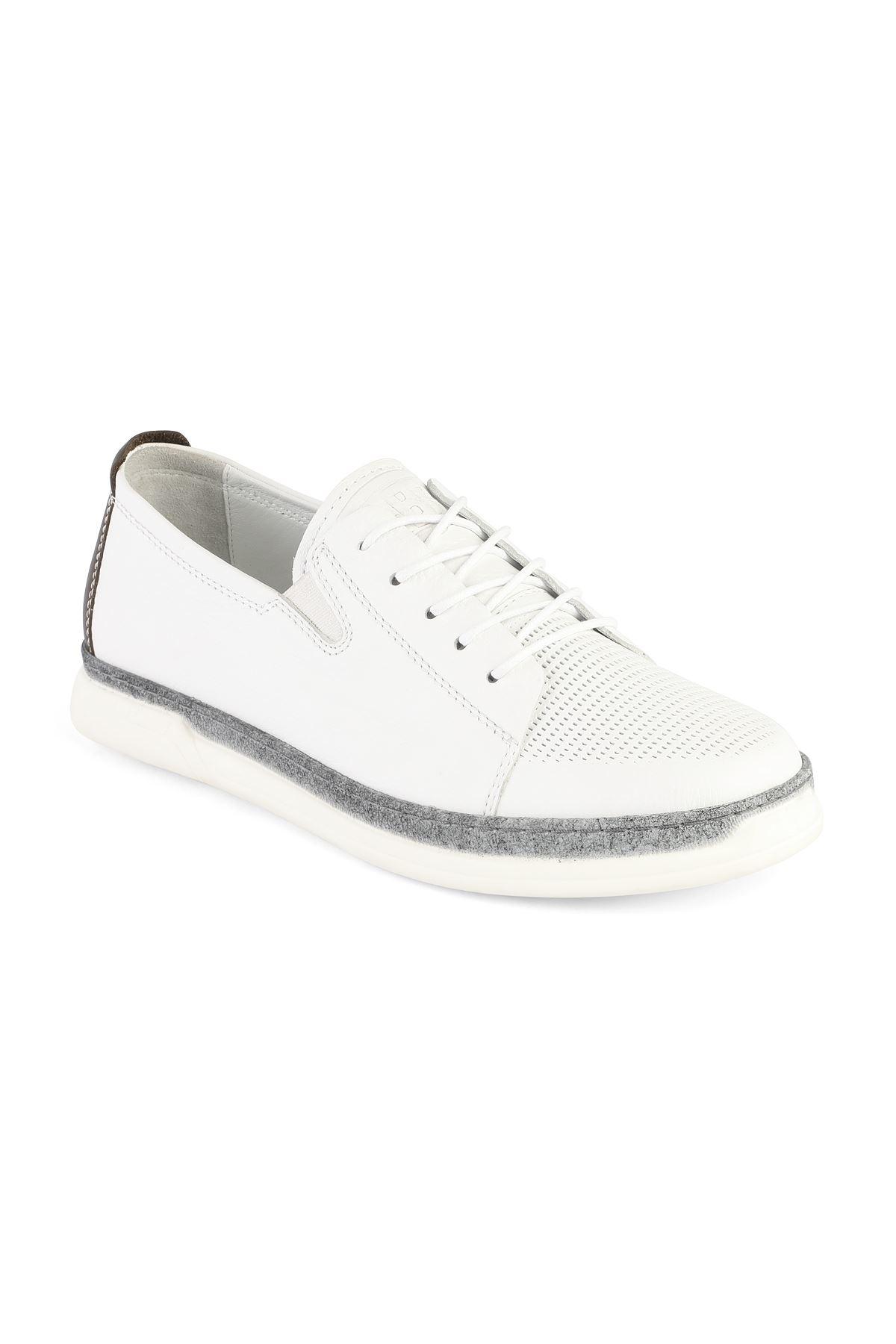 Libero 3307 White Loafer Shoes