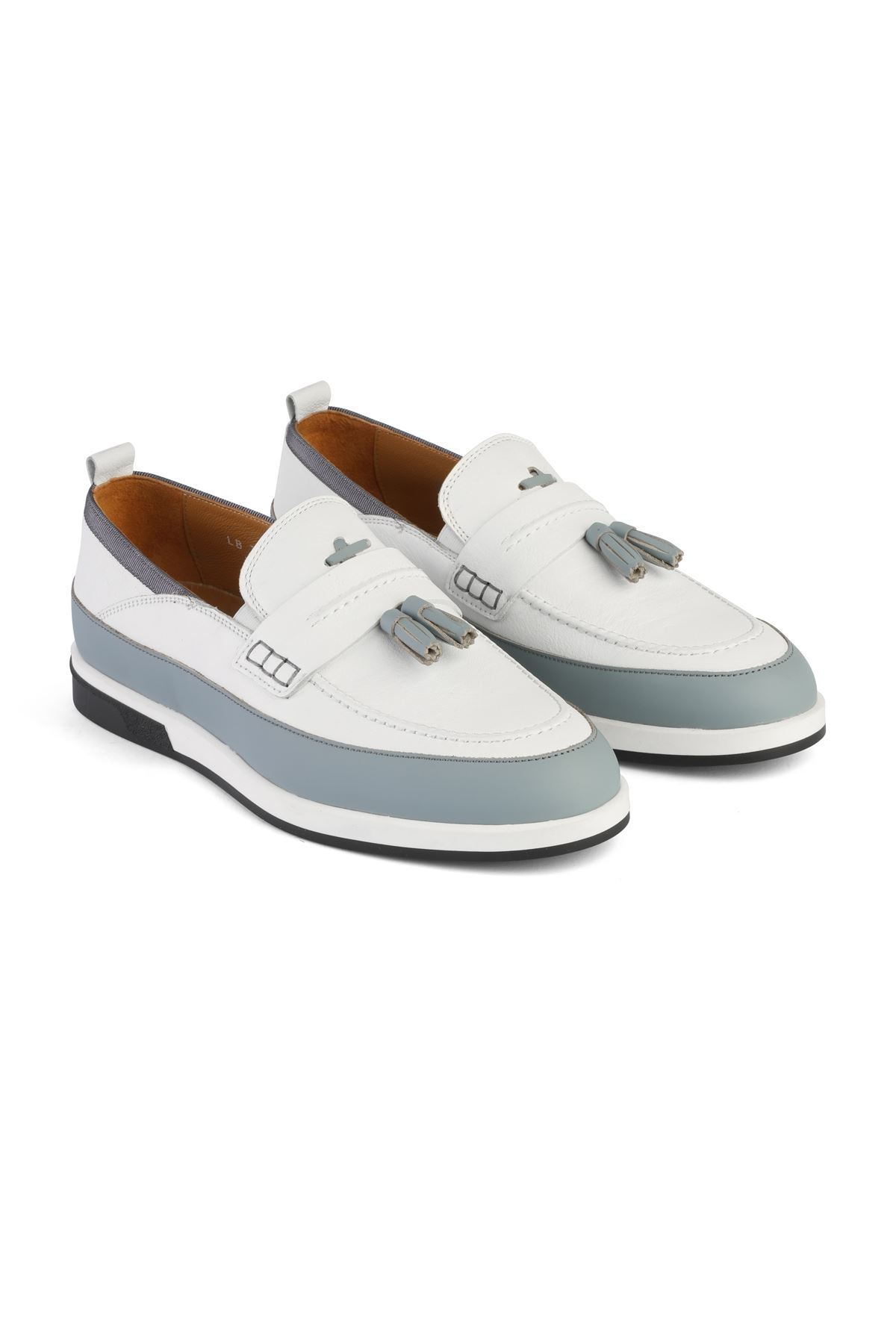 Libero 3366 White Loafer Shoes