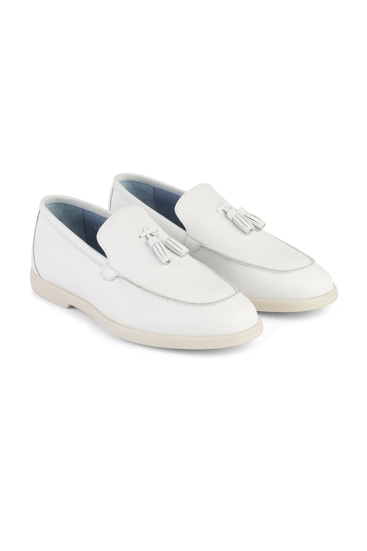 Libero 3219 White Loafer Shoes