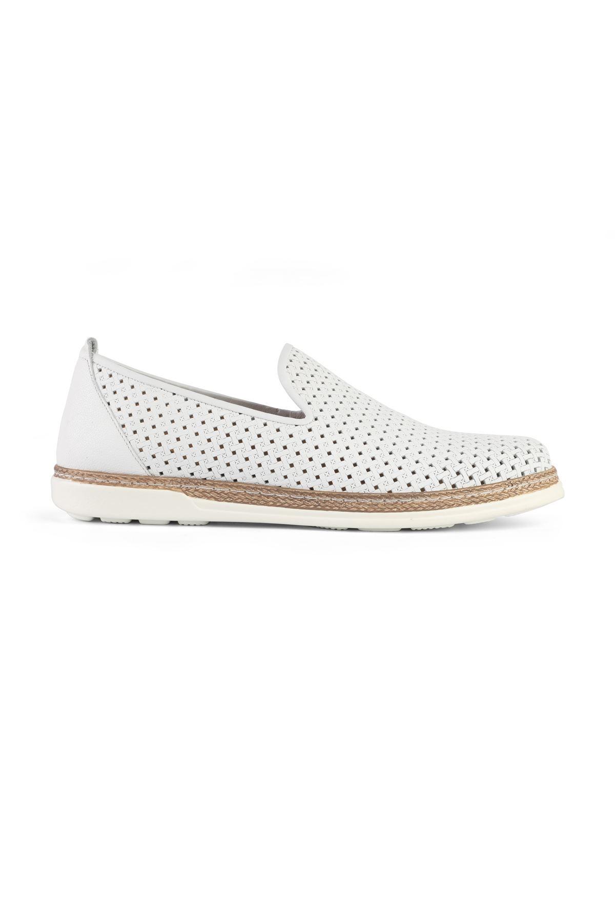 Libero 3397 White Loafer Shoes