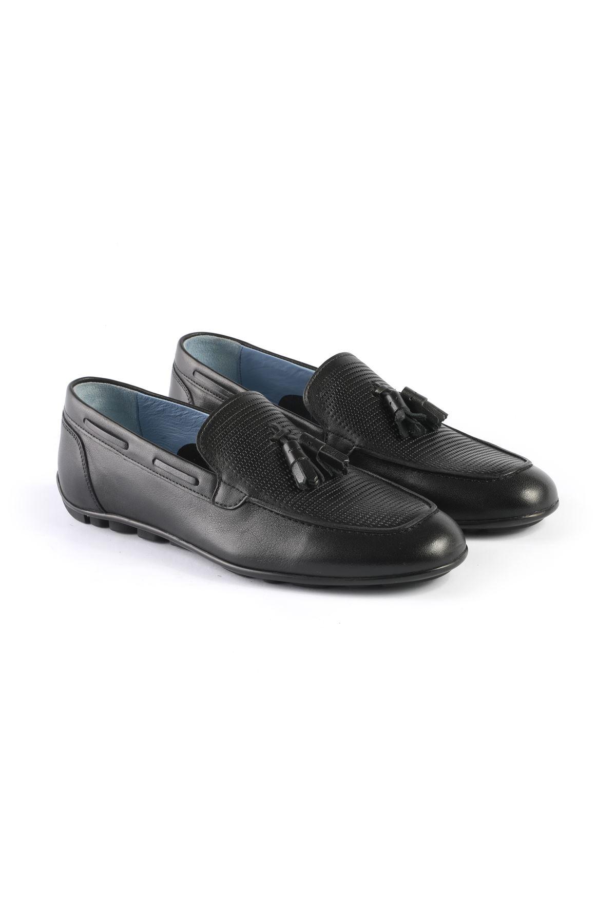 Libero L3408 Black Loafer Shoes