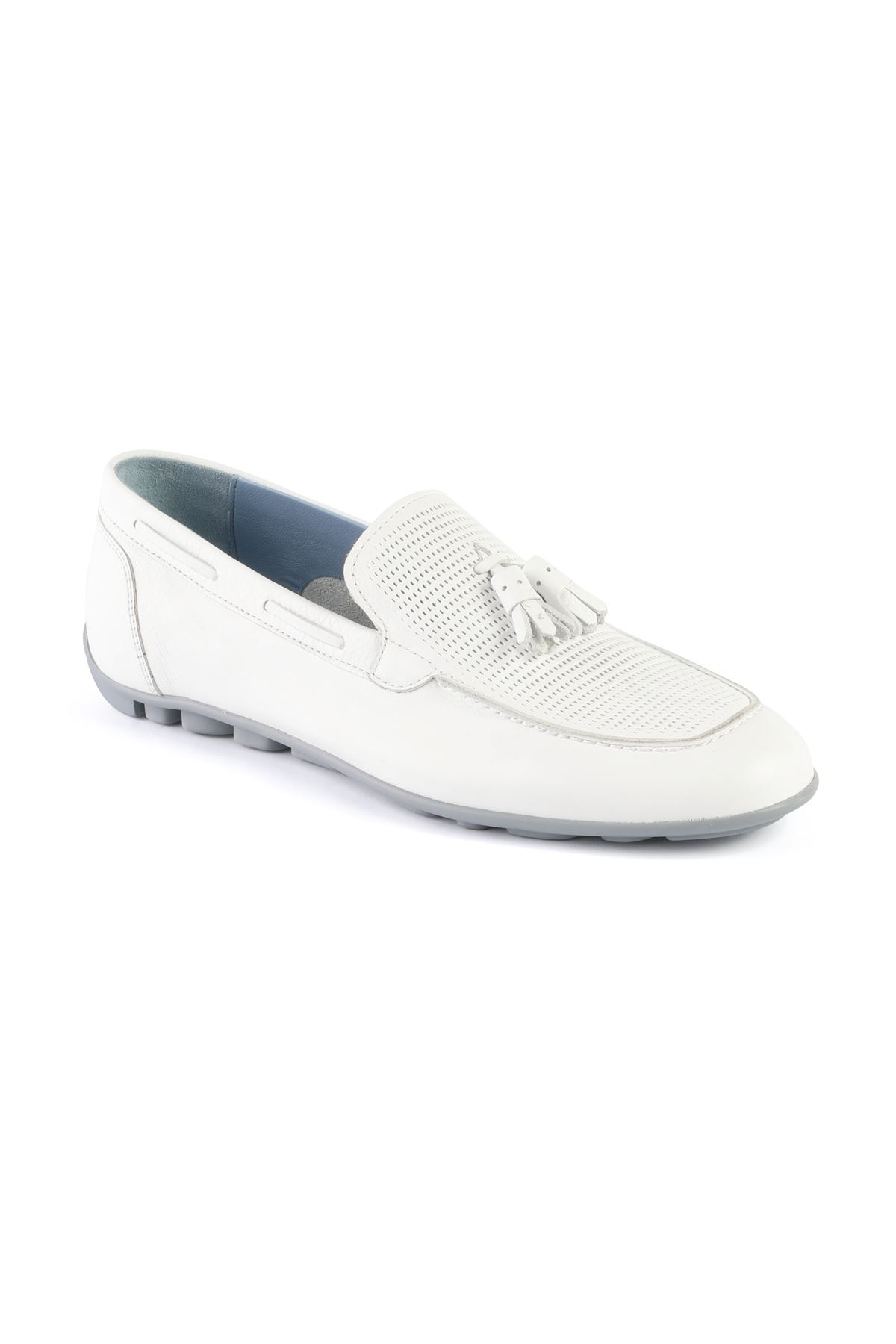 Libero L3408 White Loafer Shoes