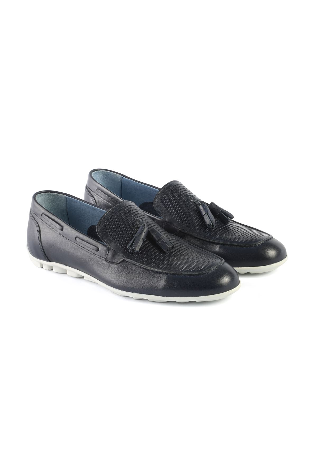Libero L3408 Navy Blue Loafer Shoes