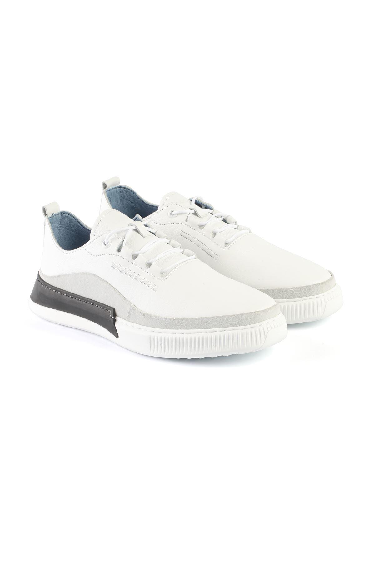 Libero L3400 White Sneaker Shoes