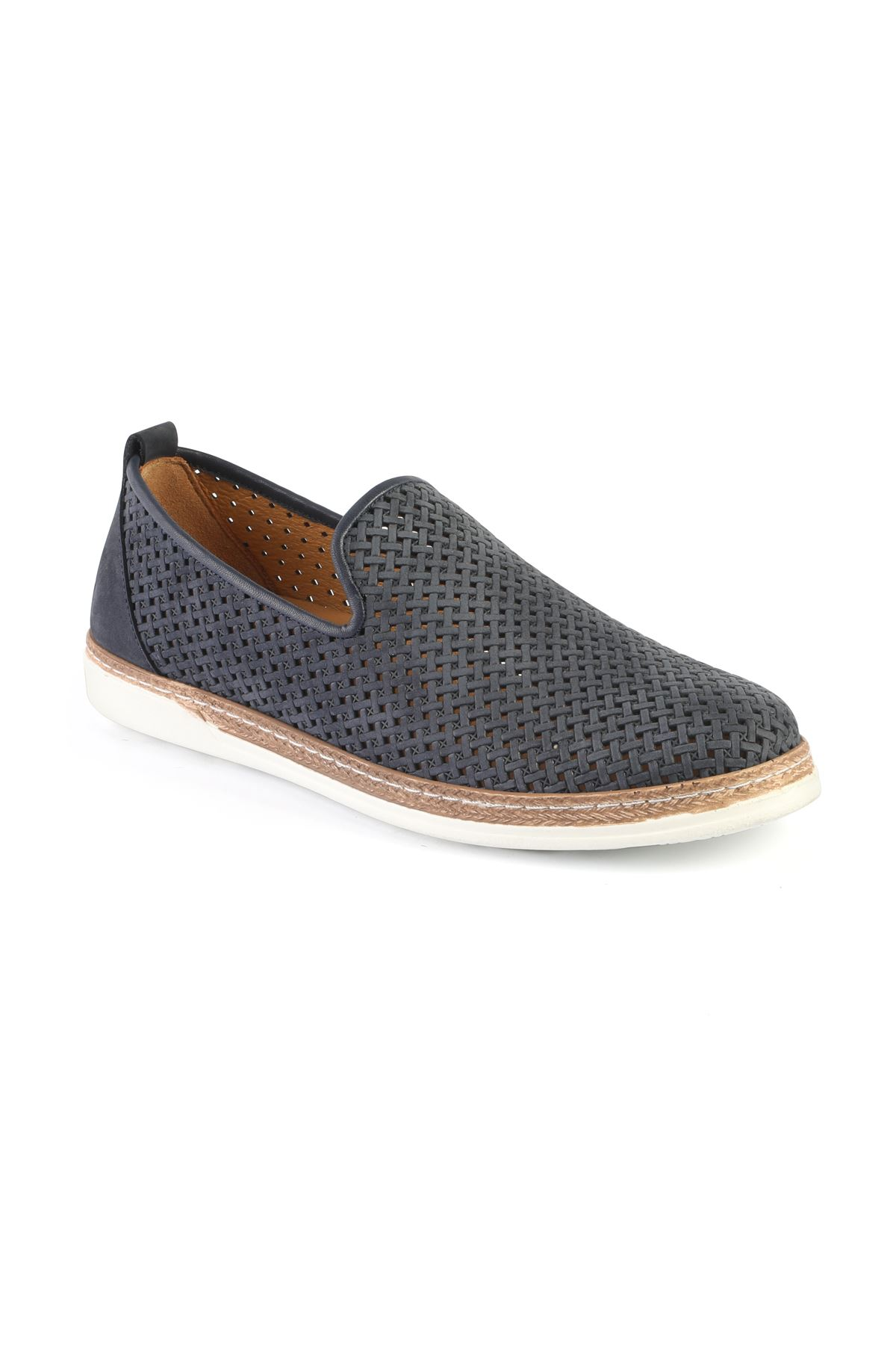 Libero 3397 Navy Blue Loafer Shoes