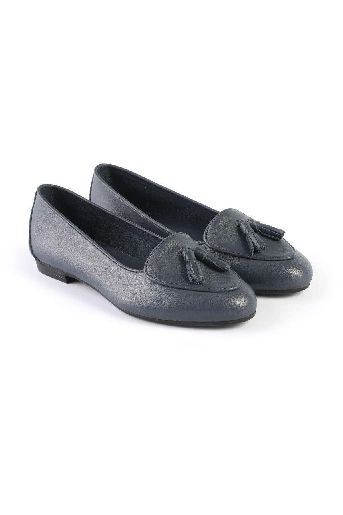 Libero FMS206 Navy Blue Babette Shoes