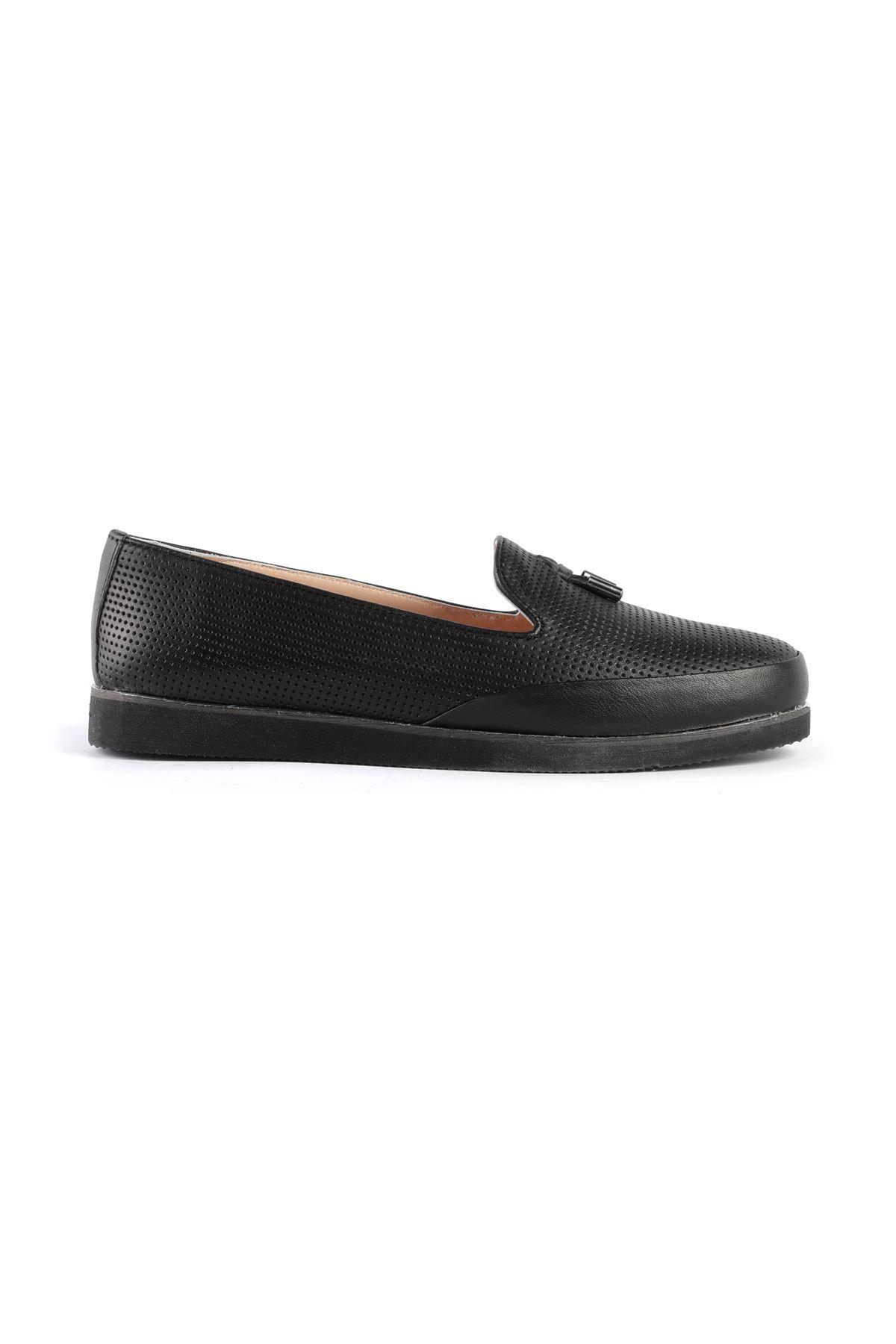 Libero AH8090 Siyah Babet Ayakkabı