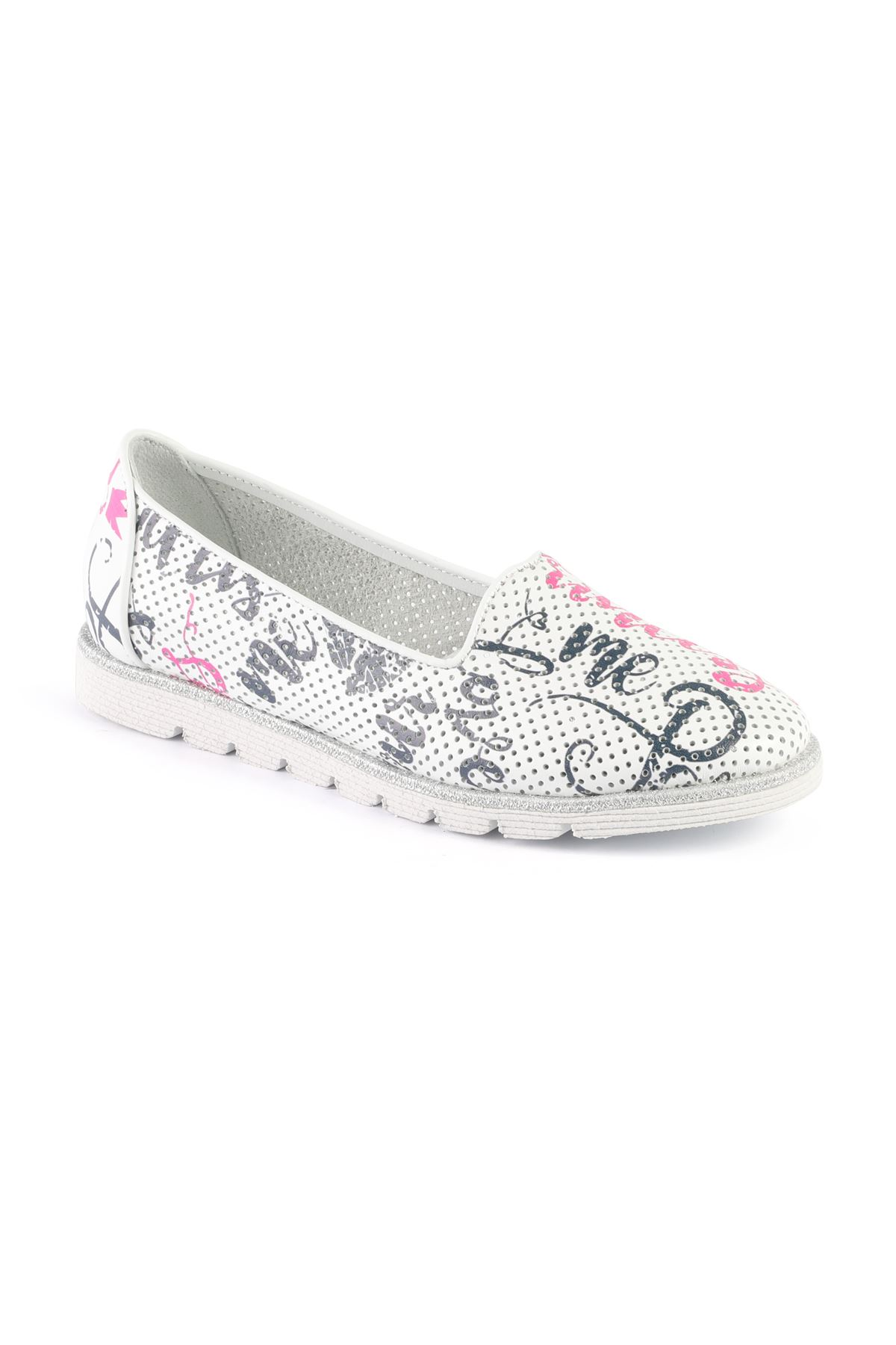 Libero MS2307 Beyaz Babet Ayakkabı