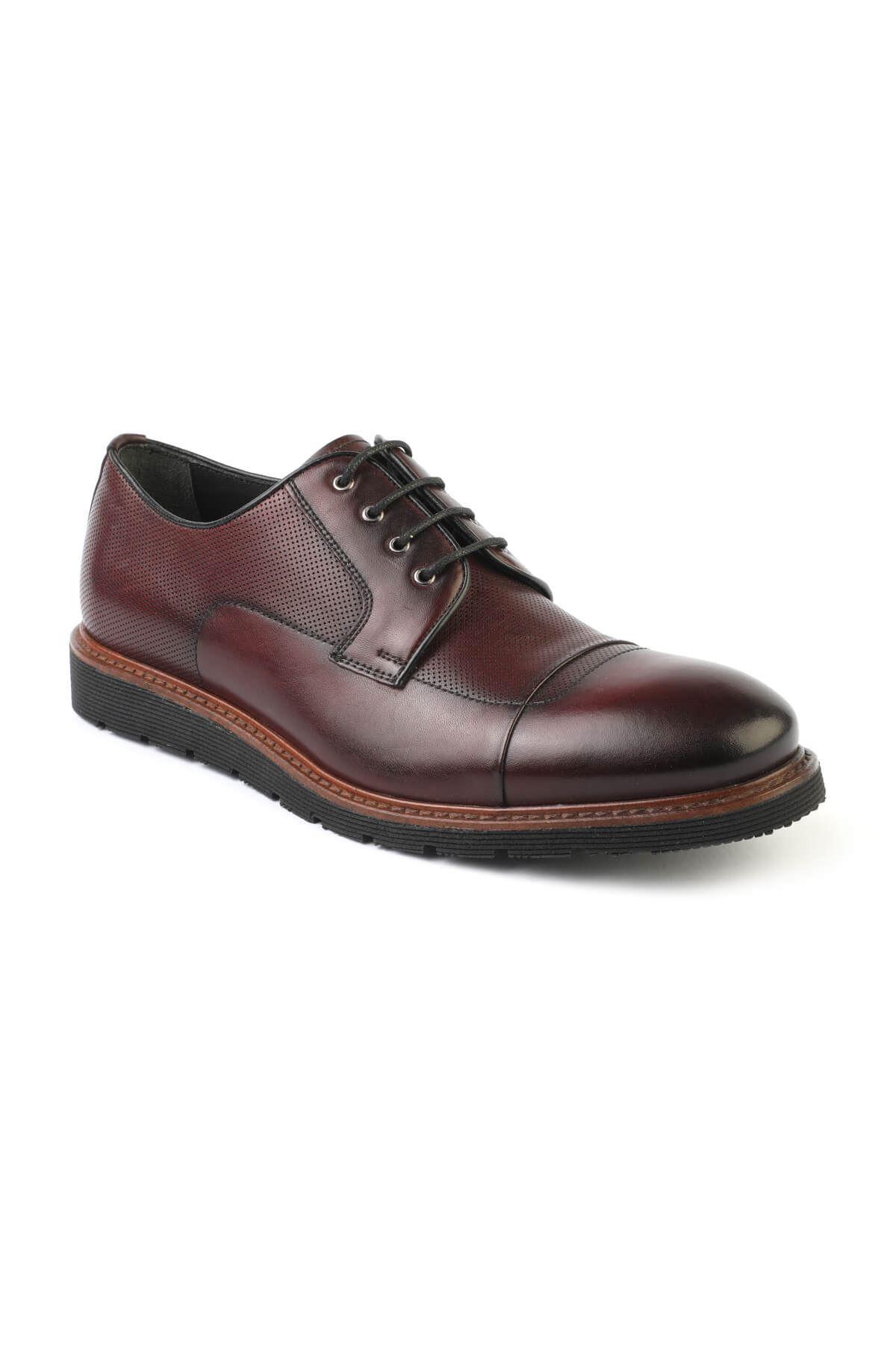 Libero T741 Bordo Oxford Ayakkabı