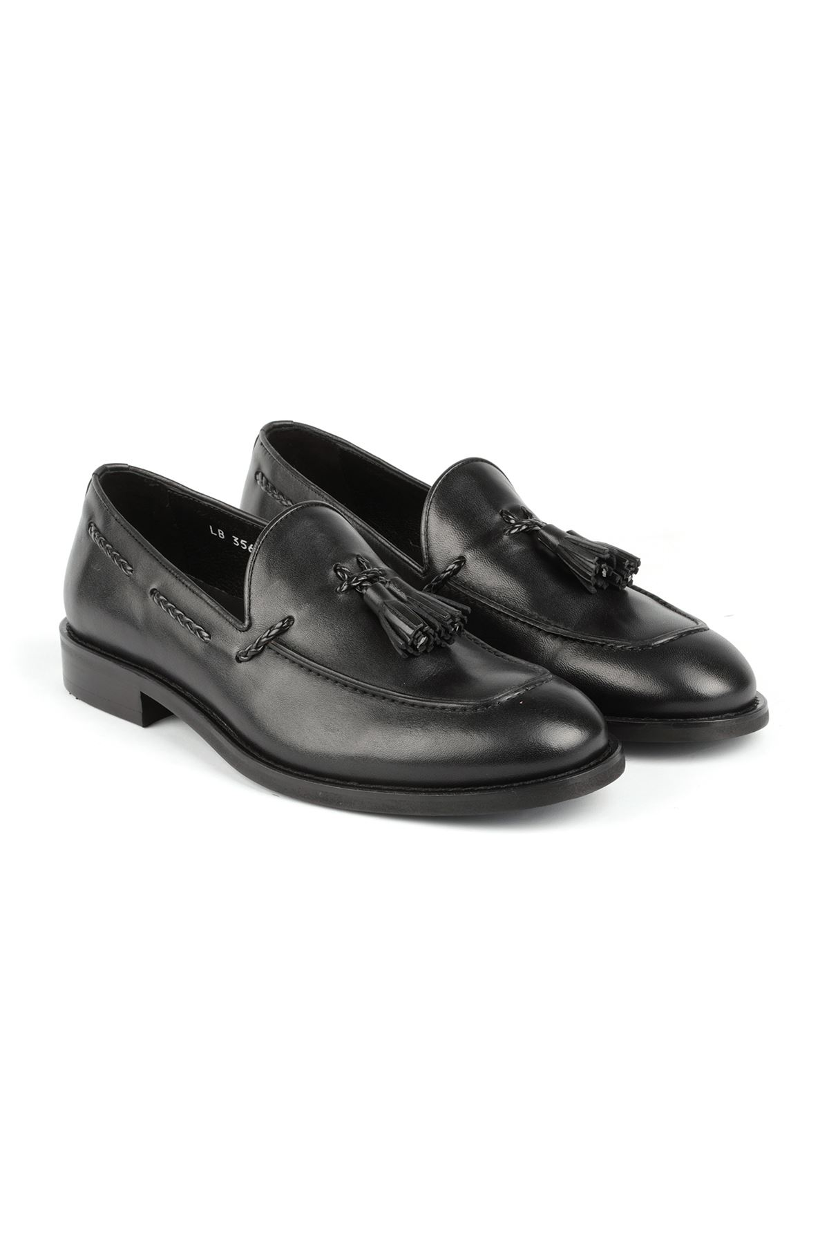 Libero L3562 Black Loafer Casual Shoes
