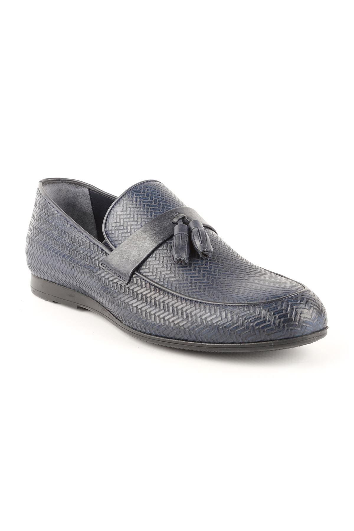 Libero T1422 Navy Blue Oxford Shoes
