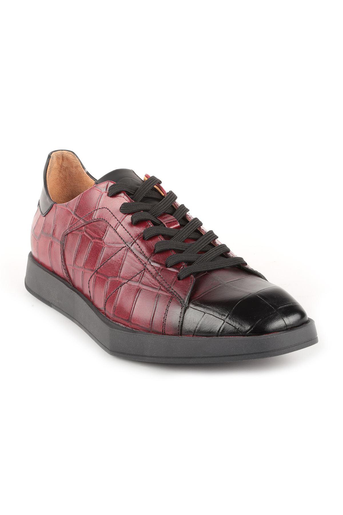 Libero L3805 Claret Red Men Shoes