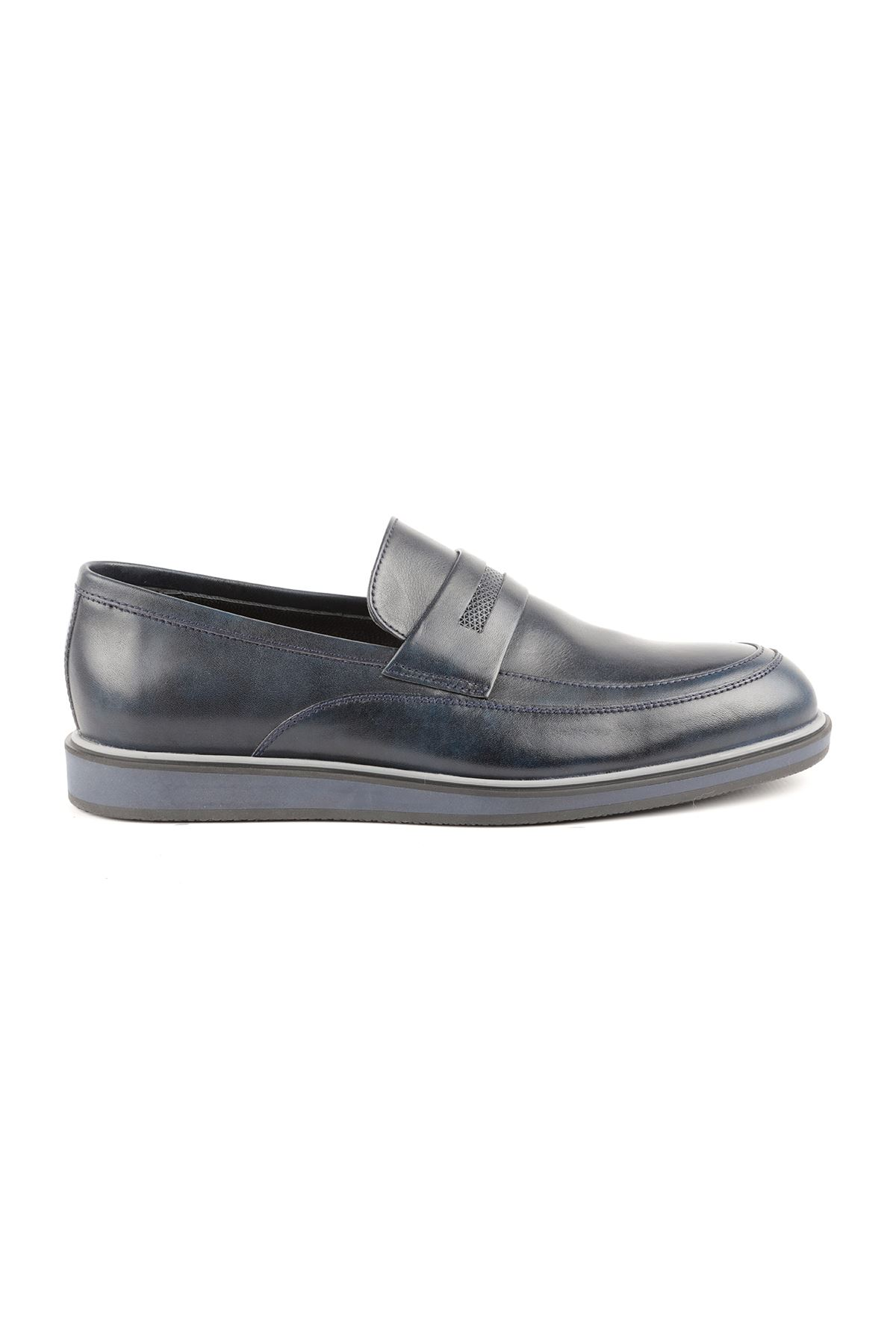 Libero L3668 Navy Blue Loafer Men's Shoes